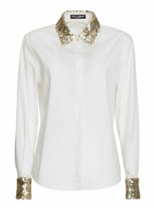 Dolce & Gabbana Poplin Shirt With Sequin Detail