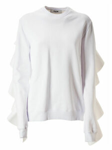 MSGM Ruffle Detailed Sweatshirt