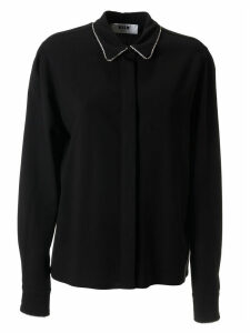 MSGM Embellished Collar Shirt