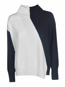 Lorena Antoniazzi Contrast Color High Neck Jumper
