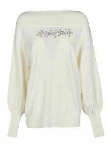 Parosh Chest Embellished Detail Pullover