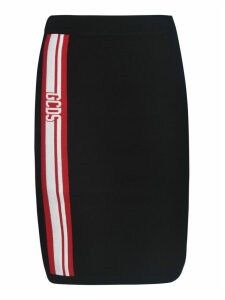 GCDS Side Stripe Logo Skirt