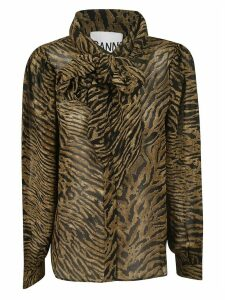 Ganni Animal Print Shirt