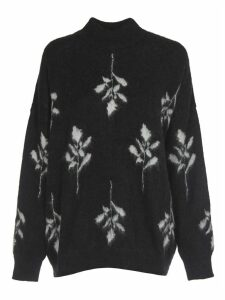 Brognano Black And White Floral Knitted Sweater