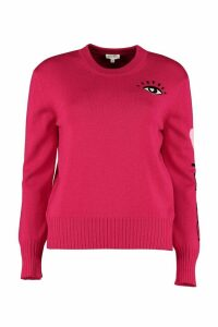 Kenzo Wool-cotton Blend Crew-neck Pullover