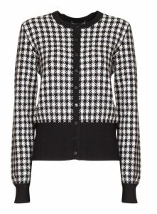 Dolce & Gabbana Roll Neck Houndstooth Sweater