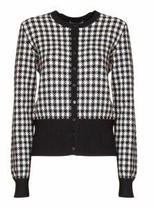 Dolce & Gabbana Roll Neck Houndstooth Sweater