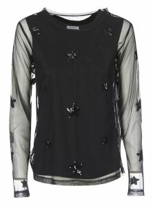 Parosh Sequined Star Top
