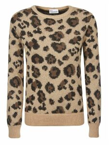 RED Valentino Animal Print Sweatshirt