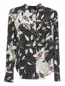 Isabel Marant Leafy Print Round Collar Shirt