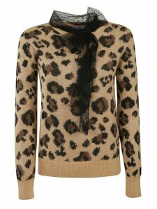 RED Valentino Animal Print Sweater