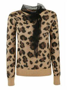 RED Valentino Animal Print Sweater