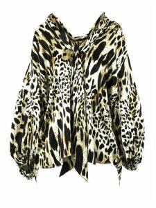 Alexandre Vauthier Leopard Print Silk Blend Shirt