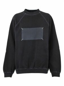 Maison Margiela Black Cotton Sweatshirt
