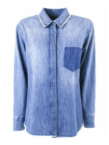 Fabiana Filippi Blue Denim Shirt
