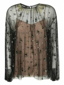 Rochas See-through Embellished Blouse
