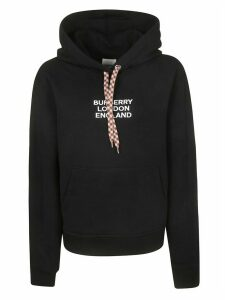 Burberry Logo Front Hoodie