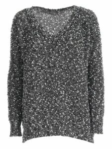 Snobby Sheep Sweater V Neck W/paillettes