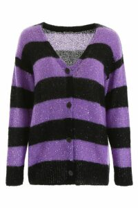 Miu Miu Striped Sequins Cardigan