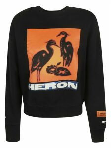 HERON PRESTON Tape-off Printed Crewneck Sweatshirt