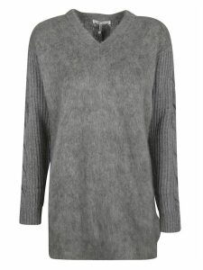 Max Mara Ribbed V-neck Sweater