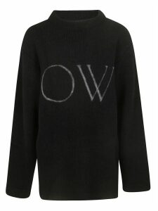Off-White Ow Knit Oversized Sweater