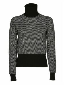 Dolce & Gabbana Chevron Roll Neck Jumper