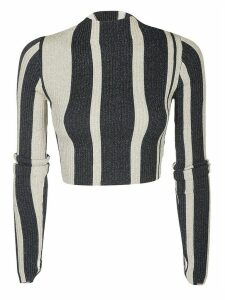 self-portrait Striped Fitted T-shirt