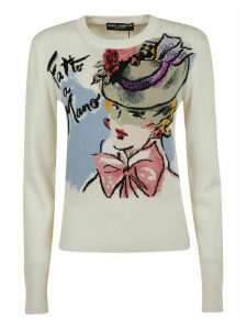 Dolce & Gabbana Graphic Print Knit Sweater