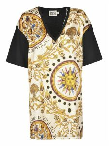 Fausto Puglisi Floral Detail V-neck T-shirt