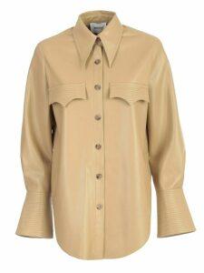Nanushka Shirt L/s Vegan Leather W/pockets