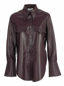Nanushka Shirt L/s Vegan Leather W/pockets