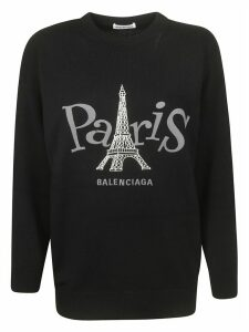 Balenciaga Paris Logo Detail Sweater