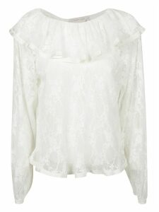 See by Chloé Laced Ruffled Blouse
