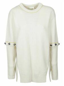 Chloé Studded Sleeve Detail Pullover