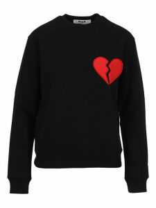 Msgm Broken Heart Patch Sweatshirt