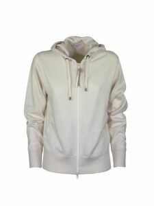 Brunello Cucinelli Cashmere Hooded Sweatshirt Ivory Sweater