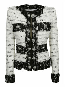 Balmain Stripe Fringed Cardigan