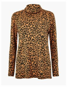 M&S Collection Relaxed Fit Animal Print Top