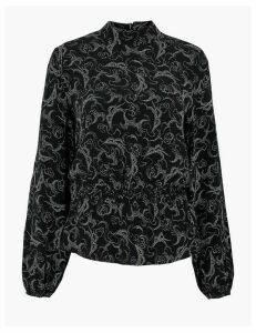 M&S Collection Paisley Waisted Blouse