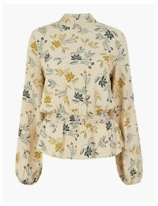 M&S Collection Printed Waisted Blouse