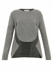 Comme Des Garçons Comme Des Garçons - Cut Out Draped Front Sweater - Womens - Grey