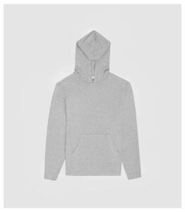 Reiss Murphy - Jersey Hoodie in Soft Grey, Mens, Size XXL