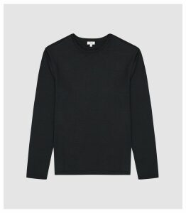 Reiss Armstrong - Crew Neck Jersey Top in Charcoal, Mens, Size XXL