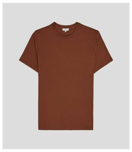 Reiss Bless - Crew Neck T-shirt in Rust, Mens, Size XXL