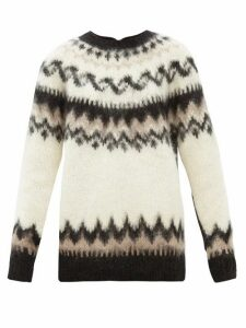 Junya Watanabe - Reversed Fair Isle Wool-blend Cardigan - Womens - Black Multi