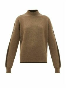 Phipps - Velocity Logo Intarsia Yak Sweater - Womens - Brown