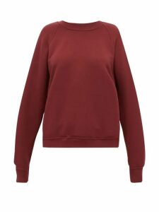 Les Tien - Raglan-sleeve Cotton Sweatshirt - Womens - Burgundy