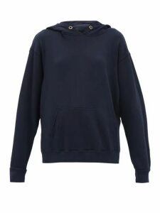 Les Tien - Hooded Cotton Jersey Sweatshirt - Womens - Navy