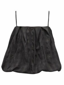 Marques'almeida - Puffball Check-jacquard Taffeta Cami Top - Womens - Black